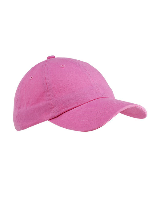 Big Accessories 6-Panel Brushed Twill Unstructured Cap - Pink