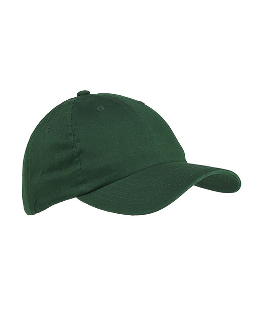 Big Accessories 6-Panel Brushed Twill Unstructured Cap - Forest