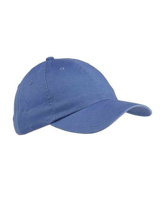 Big Accessories 6-Panel Brushed Twill Unstructured Cap - Ice Blue