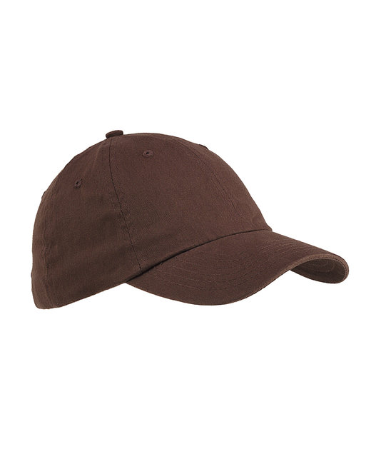 Big Accessories 6-Panel Brushed Twill Unstructured Cap - Coffee