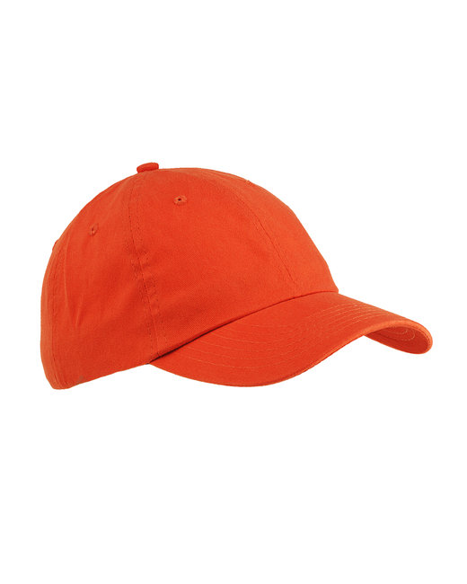Big Accessories 6-Panel Brushed Twill Unstructured Cap - Tangerine