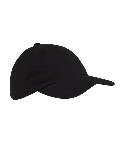 Big Accessories 6-Panel Brushed Twill Unstructured Cap - Black