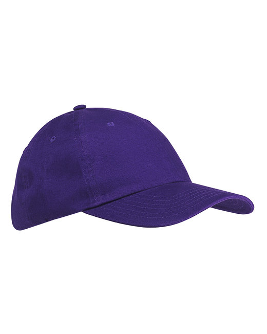 Big Accessories 6-Panel Brushed Twill Unstructured Cap - Purple