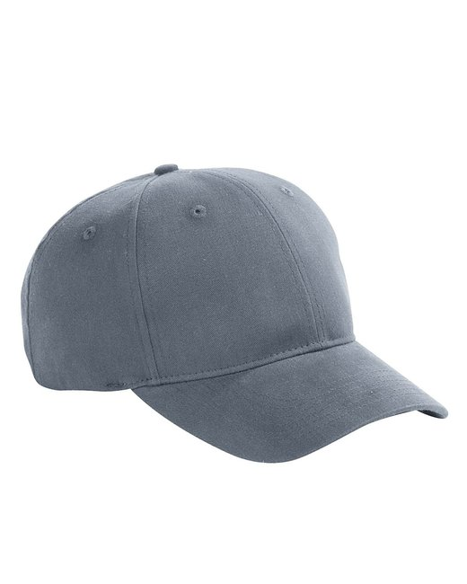 Big Accessories 6-Panel Brushed Twill Structured Cap - Steel Grey