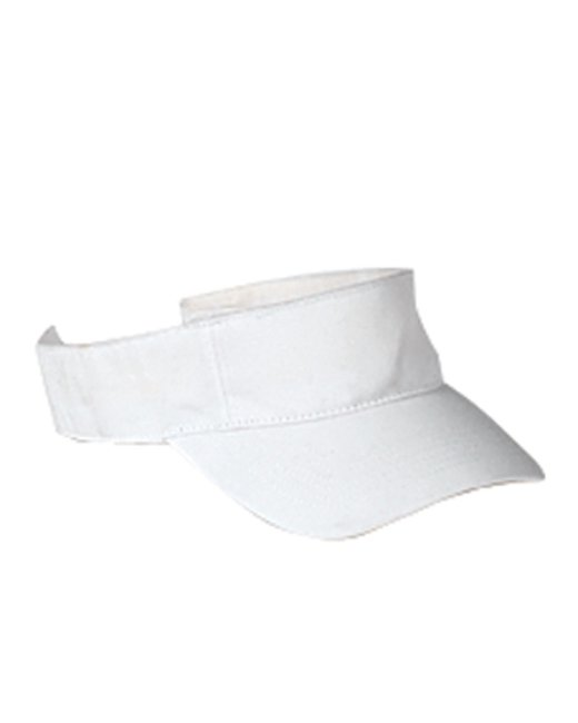 Big Accessories Cotton Twill Visor - White