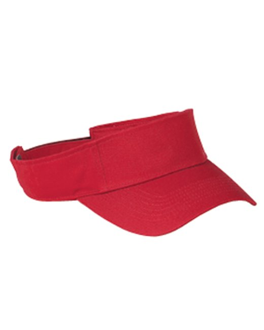 Big Accessories Cotton Twill Visor - Red