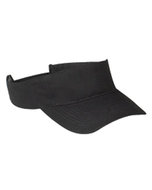 Big Accessories Cotton Twill Visor - Black