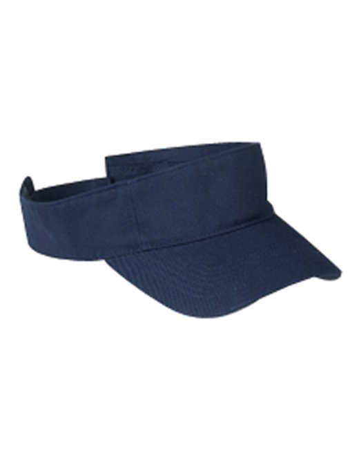 Big Accessories Cotton Twill Visor - Navy