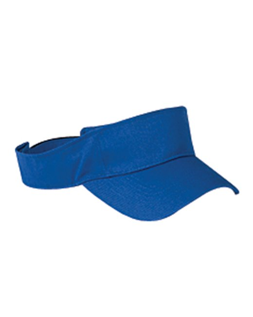 Big Accessories Cotton Twill Visor - Royal