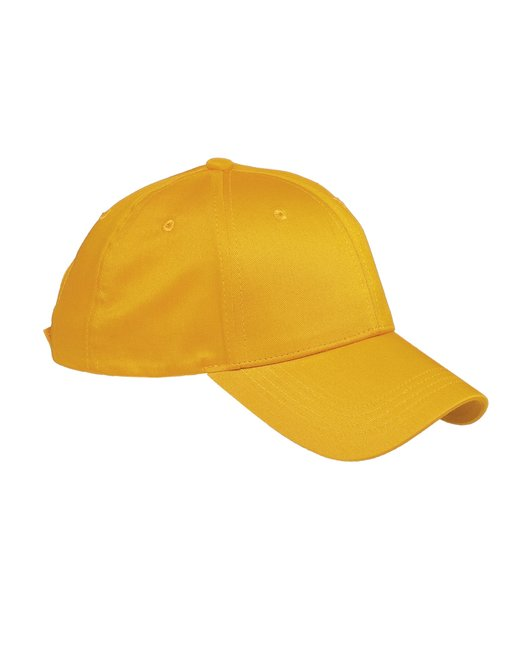 Big Accessories 6-Panel Structured TwillCap - Athletic Gold