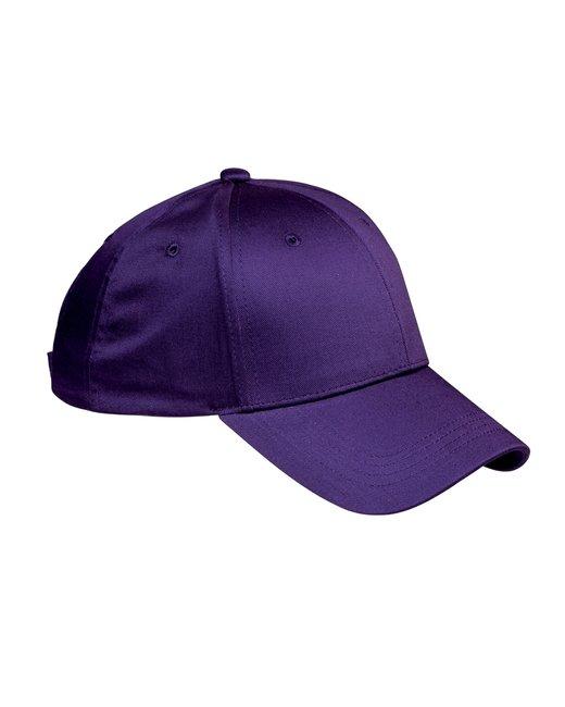 Big Accessories 6-Panel Structured TwillCap - Purple