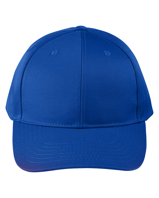 Big Accessories Adult Structured Twill 6-Panel Snapback Cap - True Royal