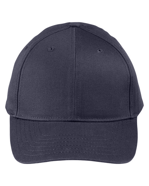 Big Accessories Adult Structured Twill 6-Panel Snapback Cap - Navy