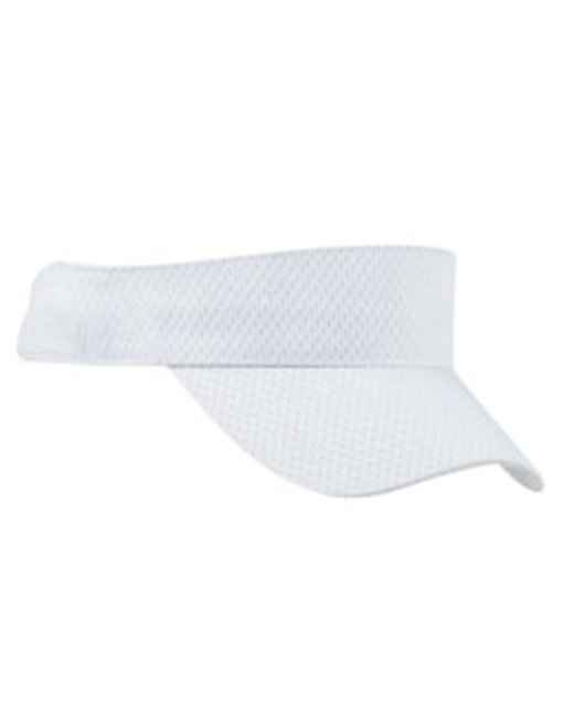 Big Accessories Sport Visor with Mesh - White