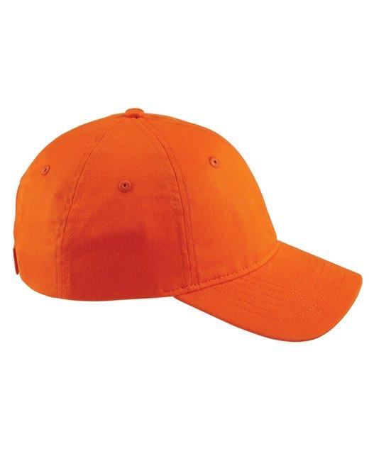 Big Accessories 6-Panel Twill Unstructured Cap - Team Orange