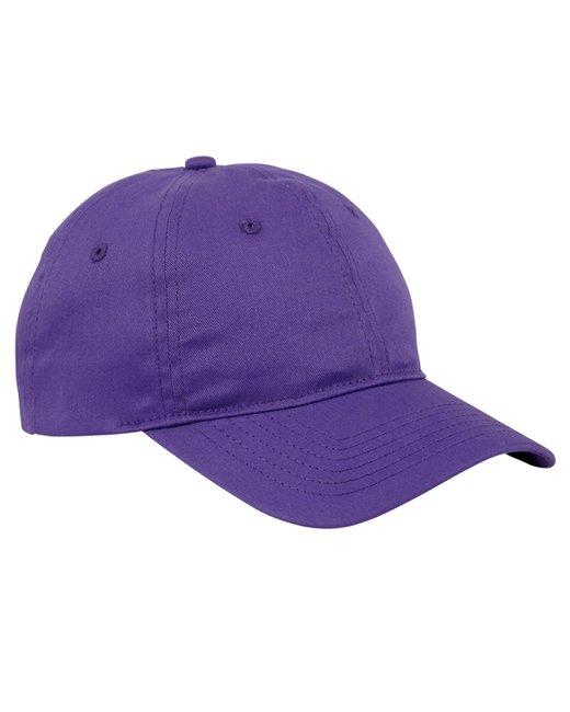 Big Accessories 6-Panel Twill Unstructured Cap - Team Purple