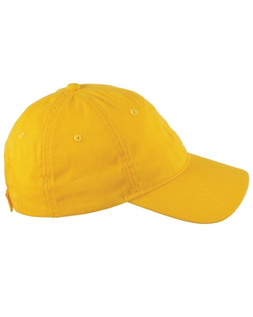 Big Accessories 6-Panel Twill Unstructured Cap - Sunray Yellow