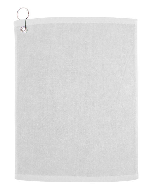Carmel Towel Company Large Rally Towel with Grommet and Hook - White