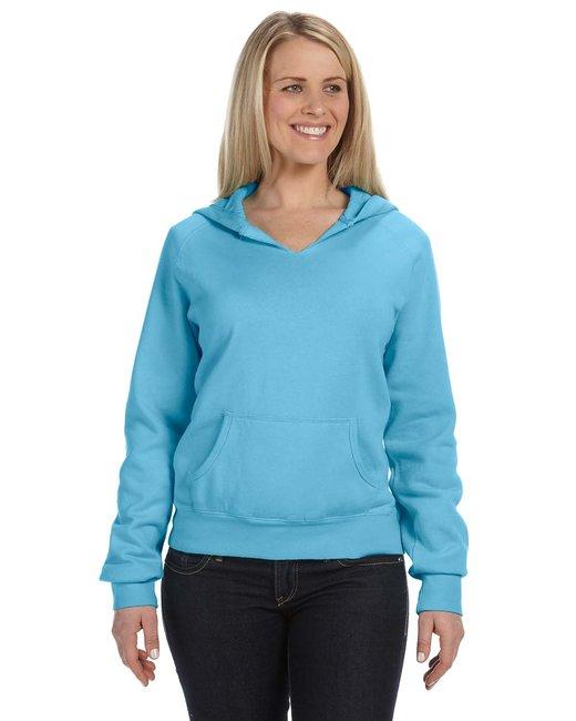 Comfort Colors Ladies' Hooded Sweatshirt - Lagoon Blue