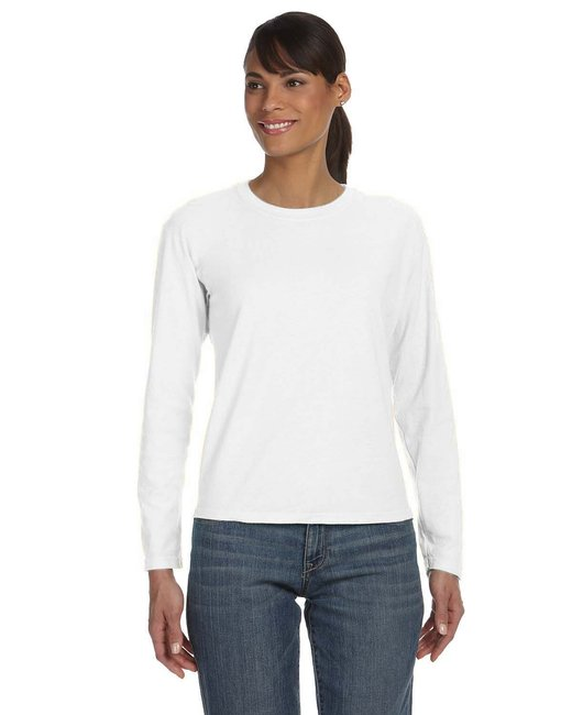 Comfort Colors Ladies' Midweight RS Long-Sleeve T-Shirt - White