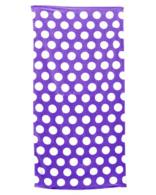Carmel Towel Company Classic Beach Towel - Purple Polka Dot