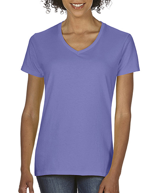 Comfort Colors Ladies'  Midweight RS V-Neck T-Shirt - Violet