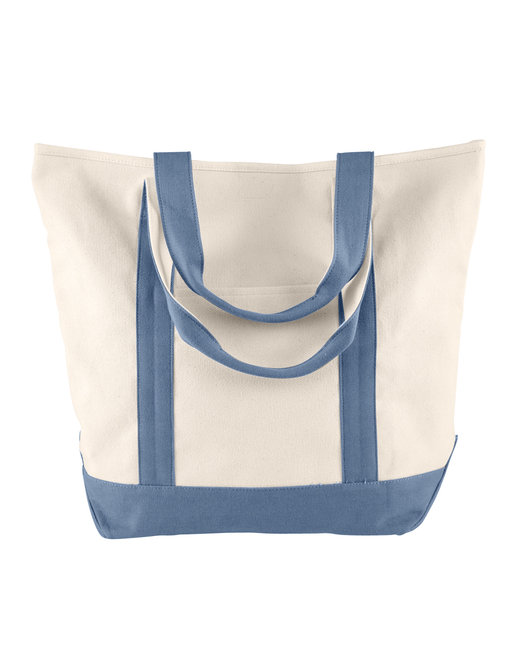 Comfort Colors Canvas Heavy Tote - Ivory/ Blue Jean