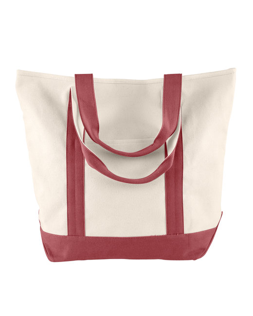 Comfort Colors Canvas Heavy Tote - Ivory/ Brick