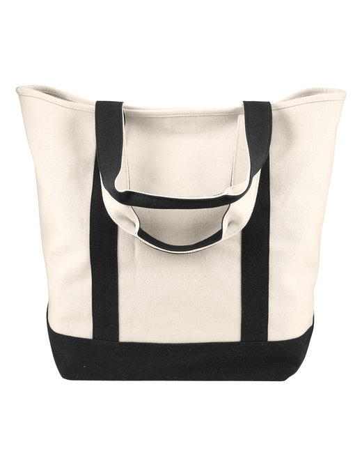 Comfort Colors Canvas Heavy Tote - Ivory/ Black
