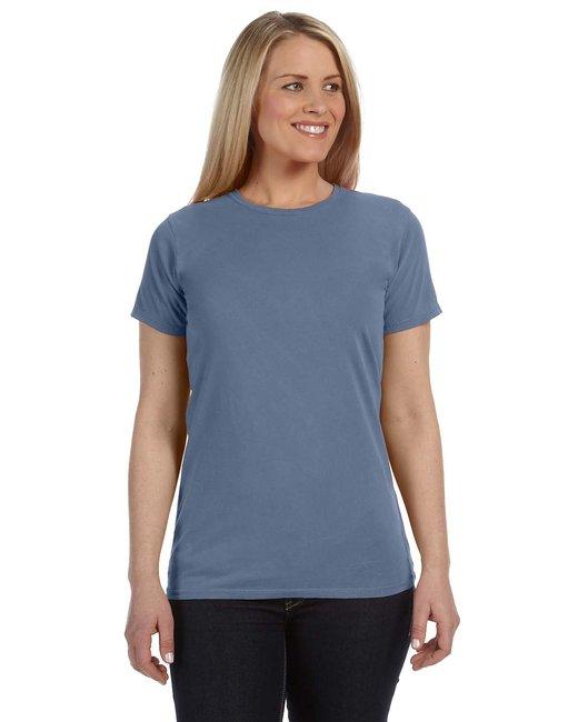 Comfort Colors C4200 - Ladies' 4.8 oz. Ringspun Garment-Dyed T-Shirt - Blue Jean - S at Sears.com