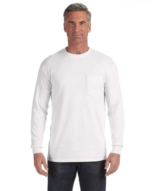 Comfort Colors Adult Heavyweight RS�Long-Sleeve Pocket T-Shirt - White