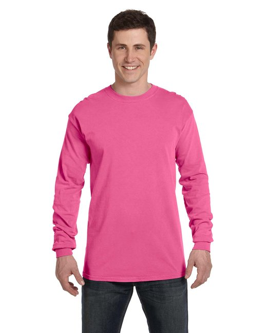 Comfort Colors Adult Heavyweight RS Long-Sleeve T-Shirt - Neon Pink