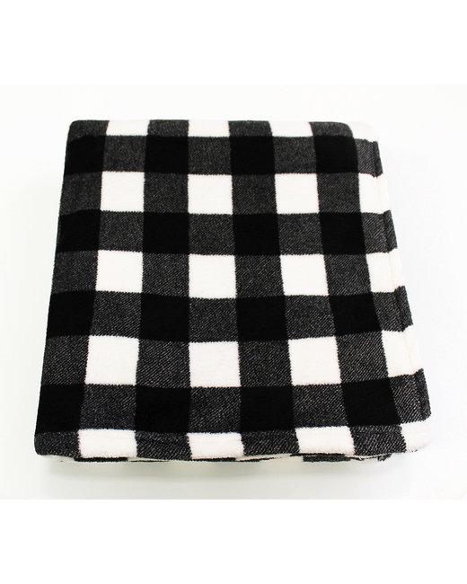Kanata Blanket Cabin Throw - Blk/ Wht Bfl Chk
