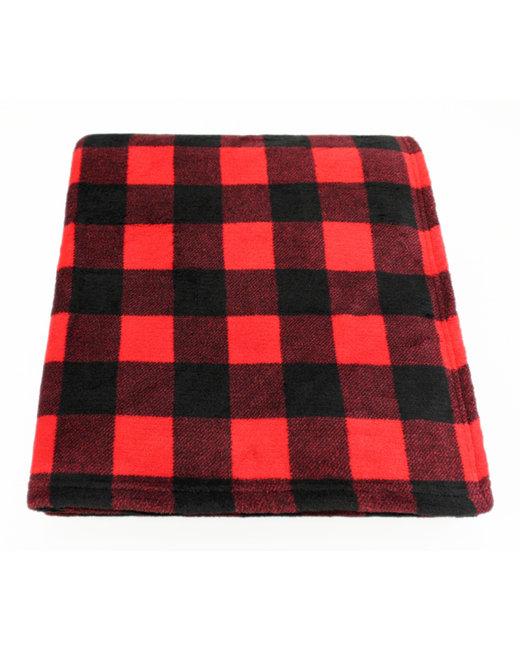 Kanata Blanket Cabin Throw - Red/ Wht Bfl Chk