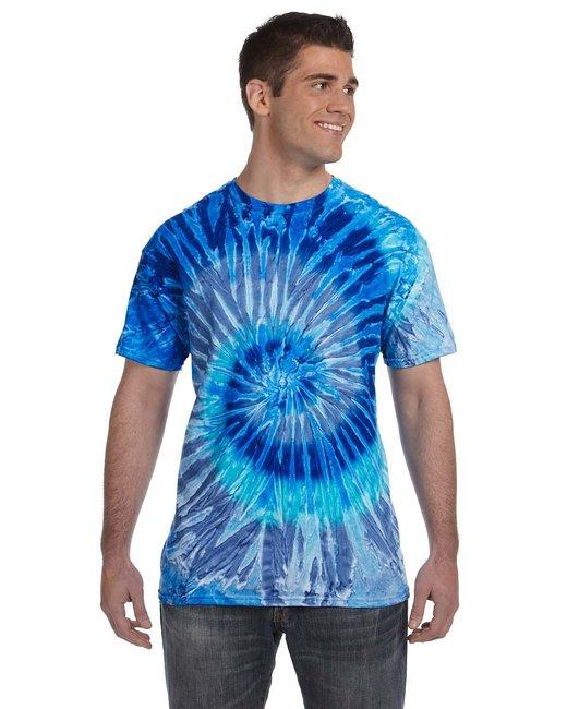 Tie-Dye Adult 5.4 oz., 100% Cotton T-Shirt - Blue Jerry