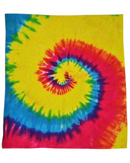 Tie-Dye Throw Blanket - Reactive Rainbow