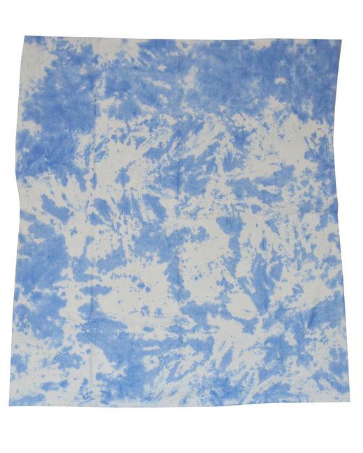 Tie-Dye Throw Blanket - Cloud Blue