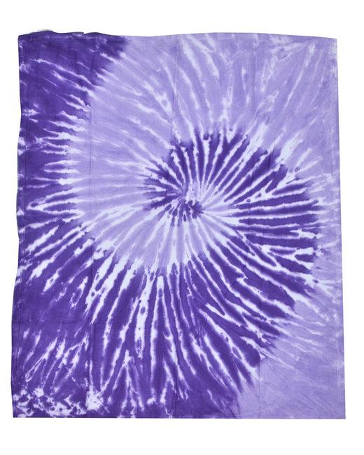 Tie-Dye Throw Blanket - Spiral Purple