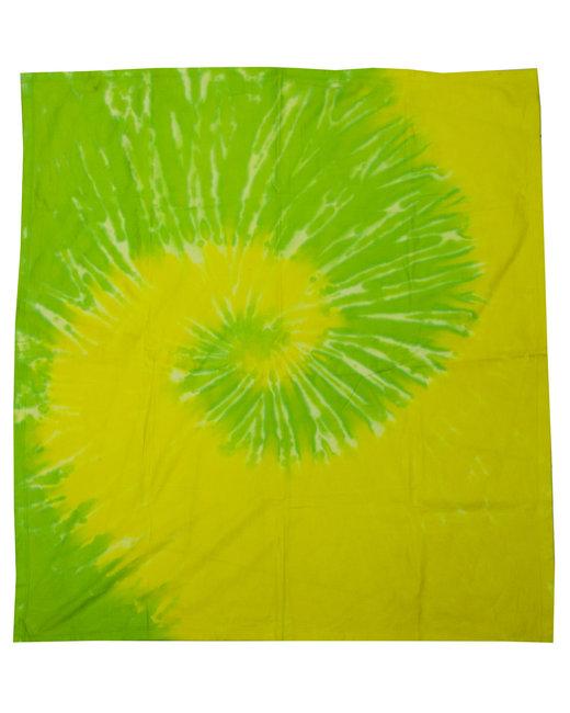 Tie-Dye Throw Blanket - Spirl Yllw/ Lime