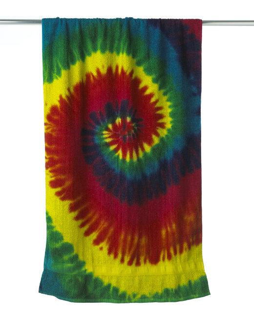 Tie-Dye Beach Towel - Reactive Rainbow