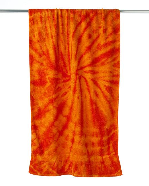 Tie-Dye Beach Towel - Spiral Orange