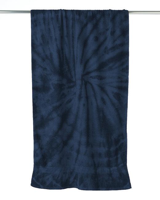 Tie-Dye Beach Towel - Spider Navy