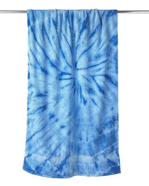 Tie-Dye Beach Towel - Spider Baby Blue