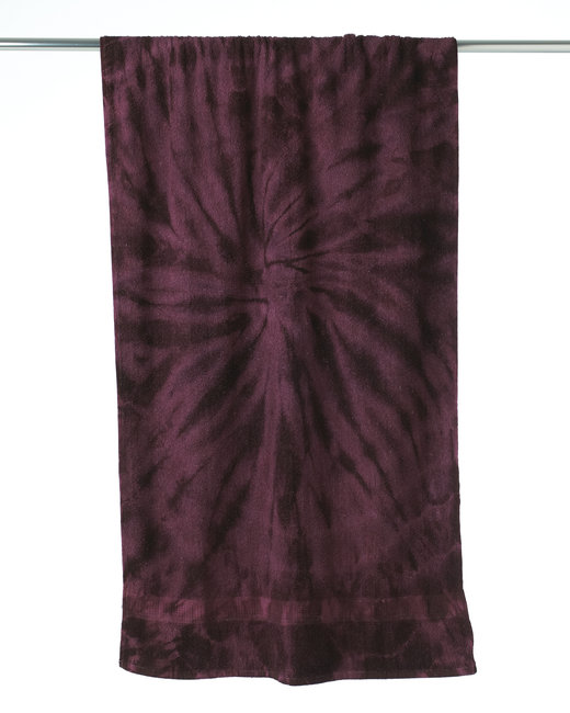 Tie-Dye Beach Towel - Spider Plum