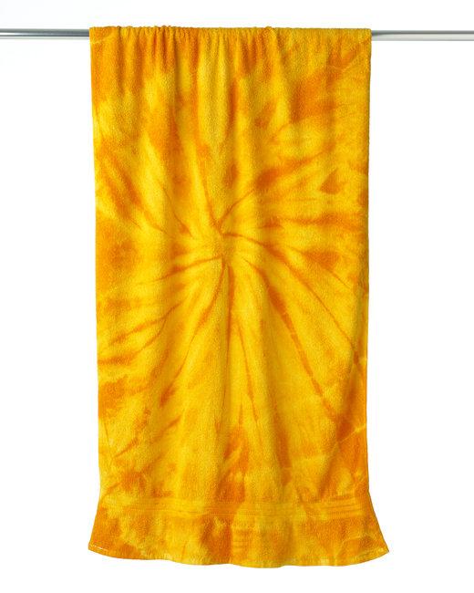 Tie-Dye Beach Towel - Spider Gold