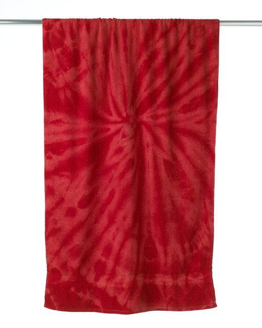 Tie-Dye Beach Towel - Spider Red