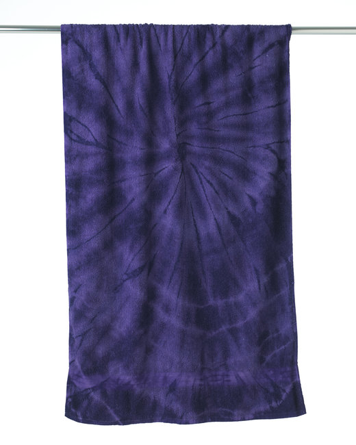 Tie-Dye Beach Towel - Spider Purple