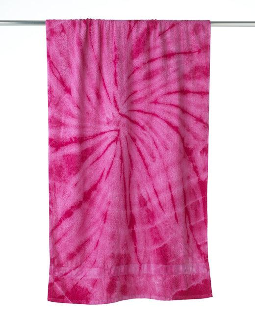 Tie-Dye Beach Towel - Spider Pink