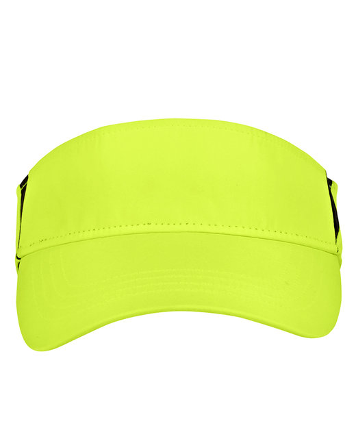 Core 365 Adult Drive Performance Visor - Sfty Ylw/ Crbn