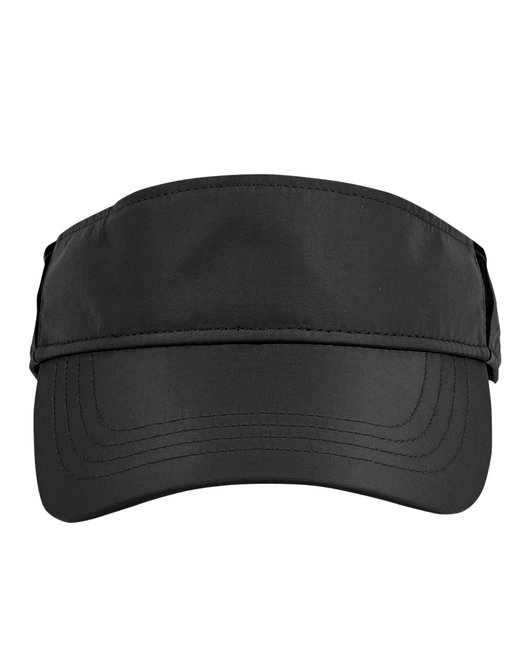 Ash City - Core 365 Adult Drive Performance Visor - Black/ Carbon